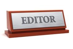 Editor job title on nameplate