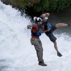 20. Erik and Jeff take the plunge on Expedition Impossible.