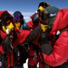 18. Erik, Eric, Luis, adn Jeff on the summit of Everest.