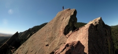 3. Jeff atop the first Flatiron, Boulder, CO
