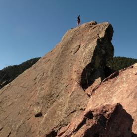 3. Jeff atop the first Flatiron, Boulder, CO