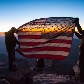23. Sunrise on the summit of Mt. Whitney